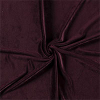 Velours dark bordeaux